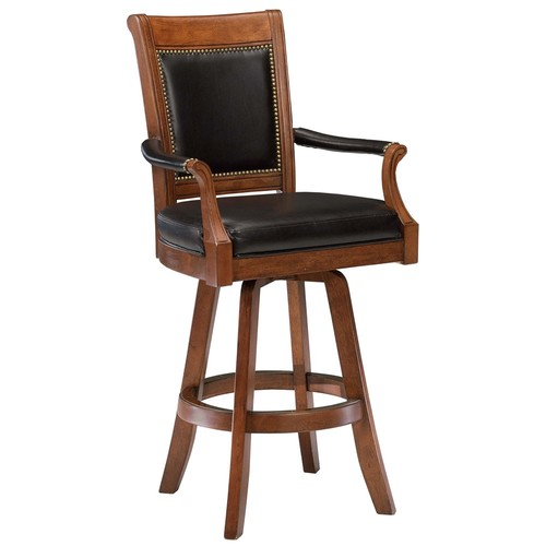 Hillsdale Furniture Kingston 30 in. Light Cherry Swivel Cushioned Bar Stool