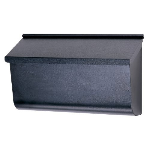 Gibraltar Mailboxes Woodlands Medium Capacity Galvanized Steel Black, Wall-Mount Mailbox, L4010WB0 [1]