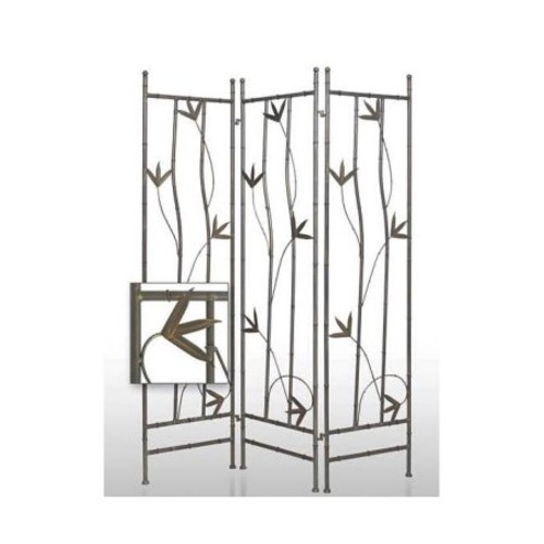 Leaf Iron 3 Panels Privacy Screen