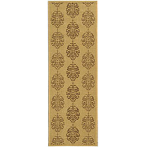Safavieh St. Martin Damask Natural/ Brown Indoor/ Outdoor Rug - 6'7 x 9'6