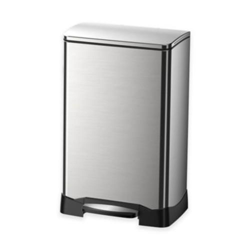 EKO Neo-Cube Stainless Steel Rectangular 40-Liter Soft-Close Step Trash Can
