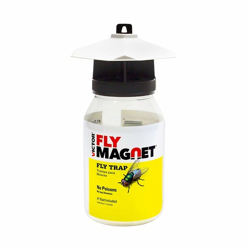 Victor M380 Fly Magnet Reusable Trap with Bait [1 Pack]