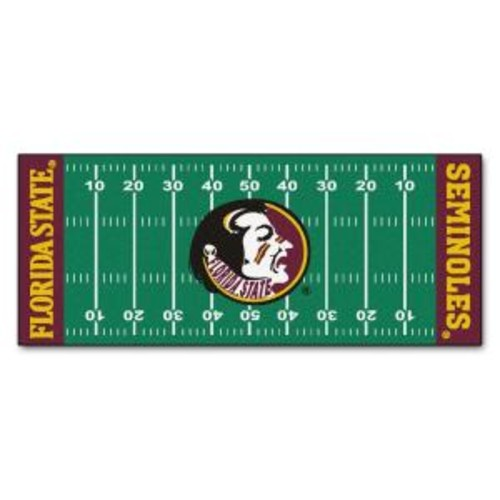 FANMATS NCAA -Florida State University Green 2 ft. 6 in. x 6 ft. Indoor Football Field Runner