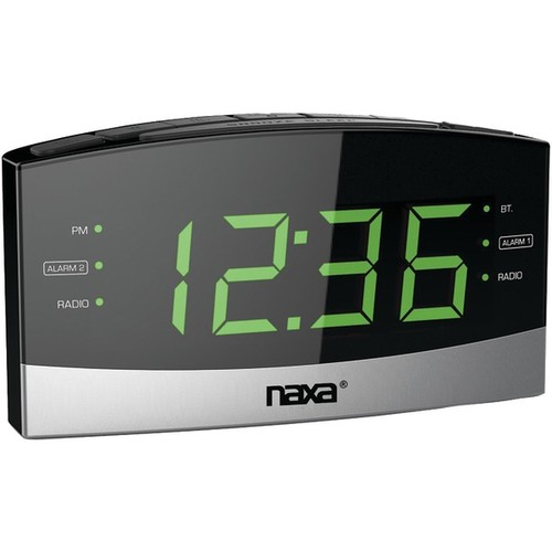 Naxa Nrc-181 Bluetooth(r) Easy-read Dual-alarm Clock With Daily Repeat