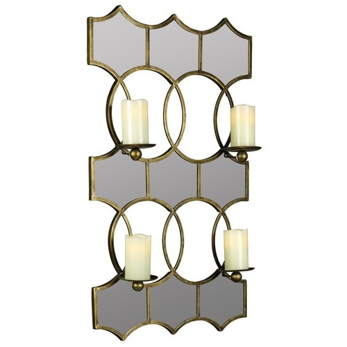 Cooper Classics Scaturro Lia Metal Mirrored Candle Holder