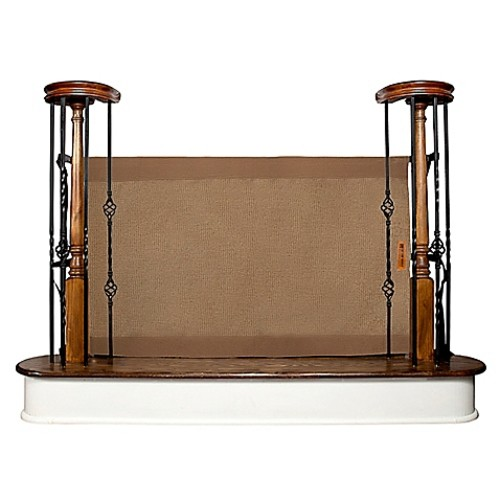 The Stair Barrier 36-Inch to 42-Inch Banister to Banister Gate in Mocha