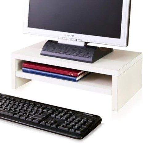 Eco Friendly 2-Shelf Monitor Stand Riser White - Way Basics