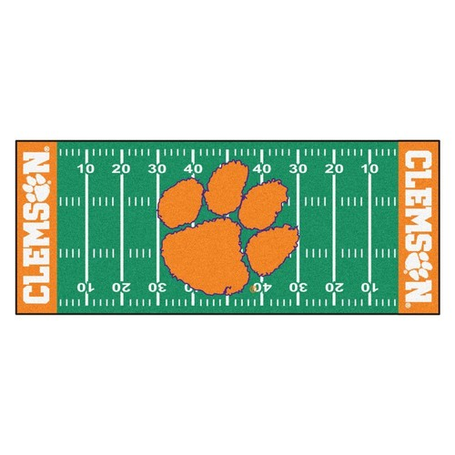 FANMATS NCAA -Clemson University Green 2 ft. 6 in. x 6 ft. Indoor Football Field Runner