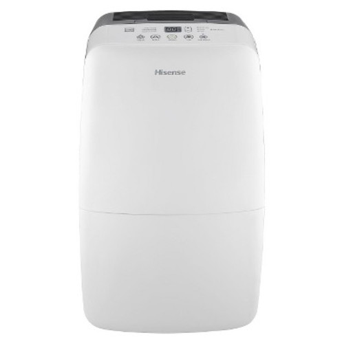 Hisense - 50 Pint Dehumidifier - White/Gray