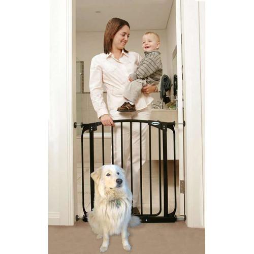 Bindaboo Pet Gates Swing-Close Expandable Pet Gate [Black, 28