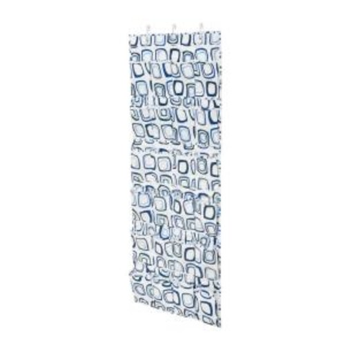 Honey-Can-Do Over-the-Door 24-Pocket Blue And White Shoe Organizer