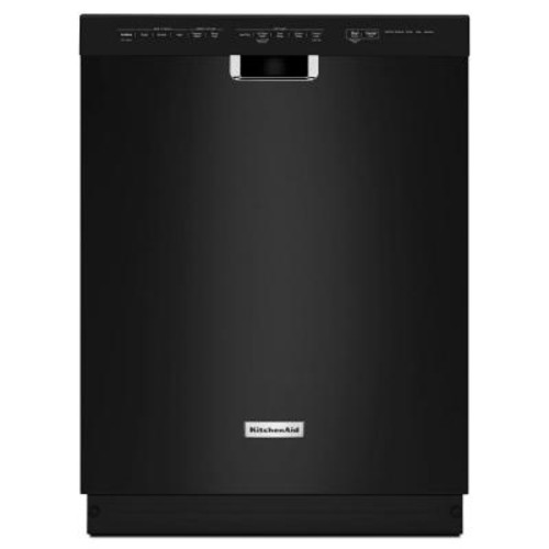 KitchenAid Front Control Dishwasher in Black with Stainless Steel Tub, ProWash Cycle, 46 dBA