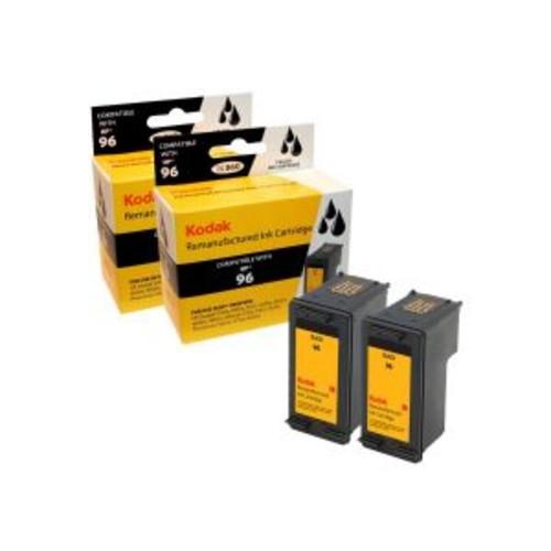 Kodak - 2-pack - High Yield - black - remanufactured - ink cartridge (equivalent to: HP 96) - for HP Deskjet 69XX; Officejet 72XX; Photosmart 25XX, 26XX, 27XX, 81XX, 84XX, 87XX, Pro B8330