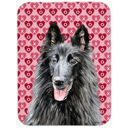 Valentine Hearts Belgian Sheepdog Hearts Love and Valentine's Day Glass Cutting Board
