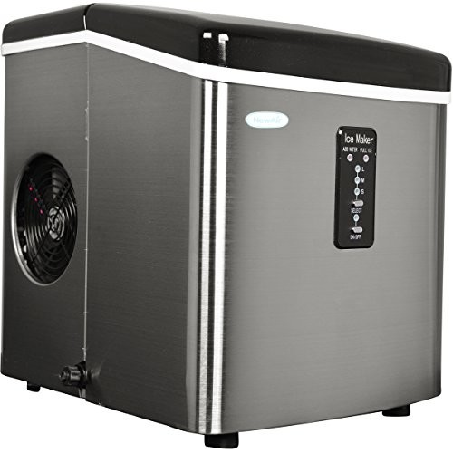 Air AI-100SS 28-Pound Portable Ice Maker, Stainless Steel [Stainless Steel]