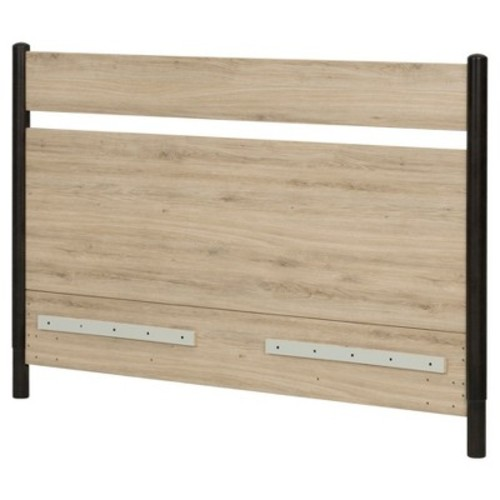 Morice Mid - Century Headboard - Full/Queen - Black And Rustic Oak - South Shore