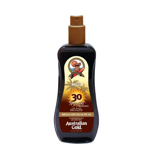 Australian Gold Exotic Blend Sunscreen with Instant Bronzer Spray Gel SPF 30 8 fl oz (237 ml)
