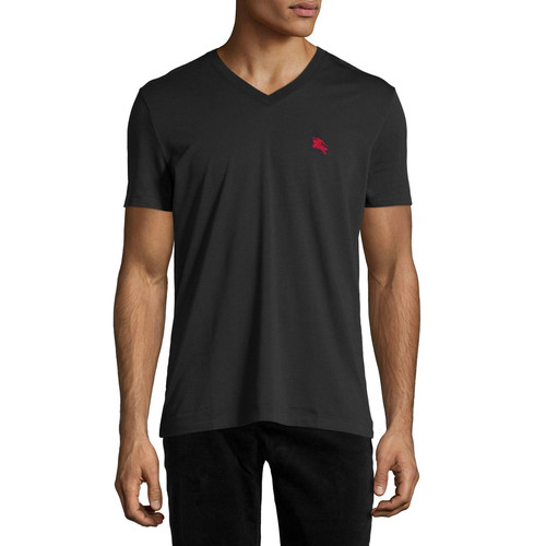 BURBERRY BRIT Lindon Cotton V-Neck T-Shirt, Black