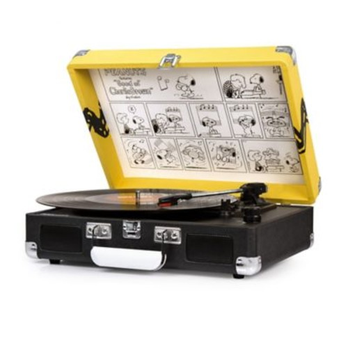 Crosley Cruiser Peanuts Portable 3-Speed Turntable with Built-In Stereo Speakers