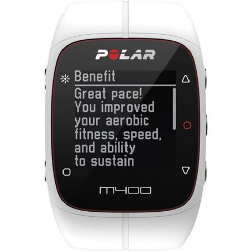 Polar M400 GPS Running Sports Watch with H7 Heart Rate Sensor, White 90051345