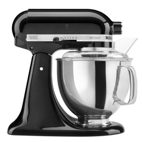 KitchenAid KSM150PSOB Artisan Series 5-Qt. Stand Mixer with Pouring Shield - Onyx Black [Onyx Black]