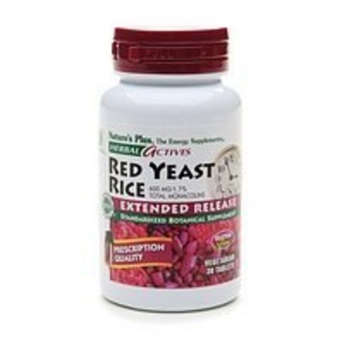 Nature's Plus - Herbal Actives Red Yeast Rice 600 mg Extended Release Tablets, 30 count