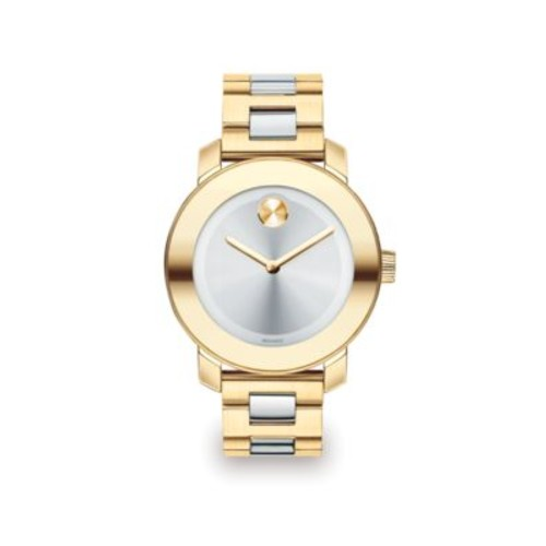 Bold Two-Tone IP Stainless Steel Bracelet Watch/36MM