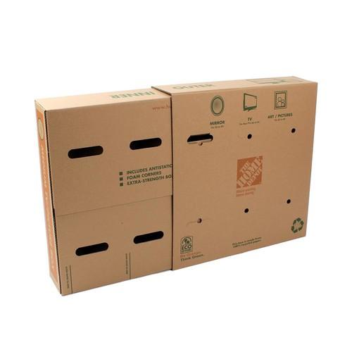 Pratt Retail Specialties 45 lb. Capacity Medium TV and Picture Moving Box