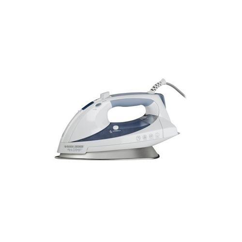 Black & Decker D6000 All Temp Iron - Smart Steam, Digital Display, 3 Way Auto Shut Off, Anti Drip