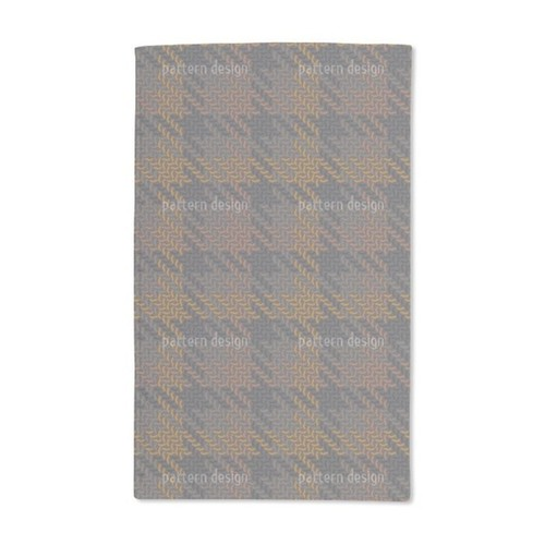 Smart Autumn Check Hand Towel (Set of 2)