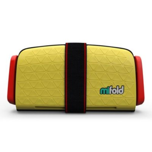 mifold Grab-n-Go Booster Car Seat in Yellow