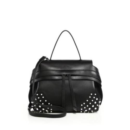 Wave Mini Pebbled Leather Crossbody Bag