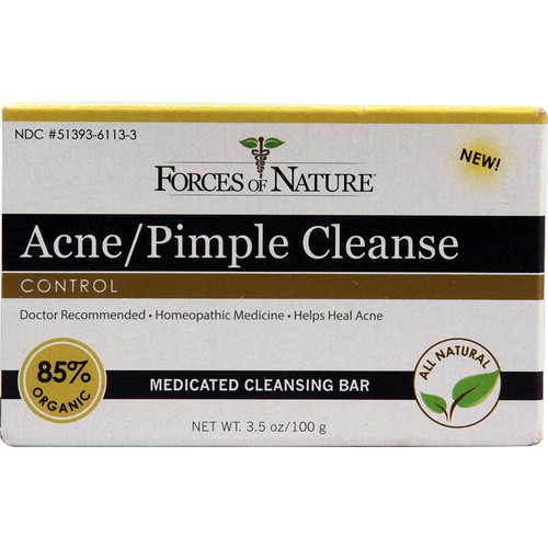 Forces Of Nature Acne-Pimple Control Cleanse Bar -- 3.5 oz