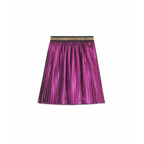 GUCCI Metallic Pleated Skirt, Size 4-12