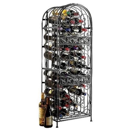 126 Bottle Steel Pantry Wine Rack Chrome - The Wine Enthusiasts