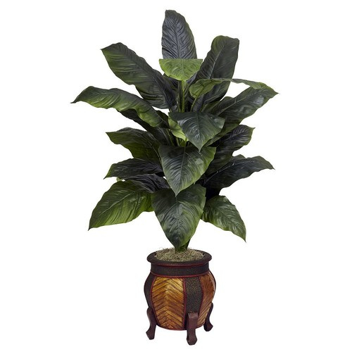 Giant Spathyfillum with Decorative Vase Silk Plant