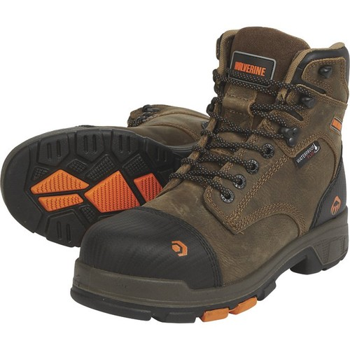 Wolverine Men's 6in. Blade LX Waterproof Work Boots - Brown, Size 11 1/2 Extra Wide,