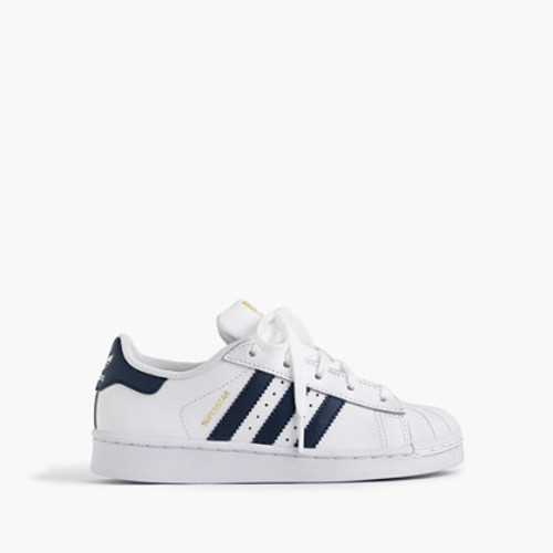 Kids' Adidas Superstar sneakers in larger sizes