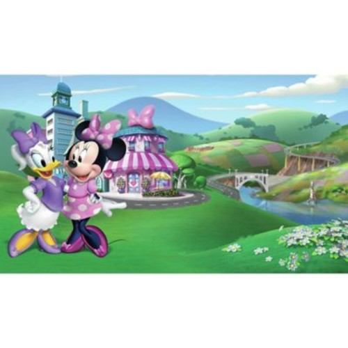 RoomMates Disney Minnie Mouse Happy Helpers Chair Rail Pre-Pasted Mural