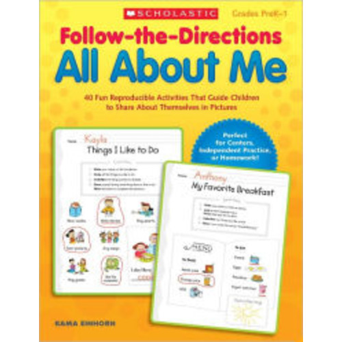 Follow-the-Directions All About Me: 40 Fun Reproducible Activities That Guide Children to Share About Themselves in Pictures