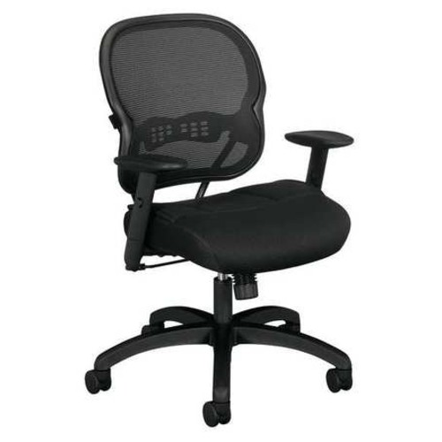 Basyx By Hon Managers Chair Series VL712, Fabric Seat, Mesh Back Black HVL712.MM10