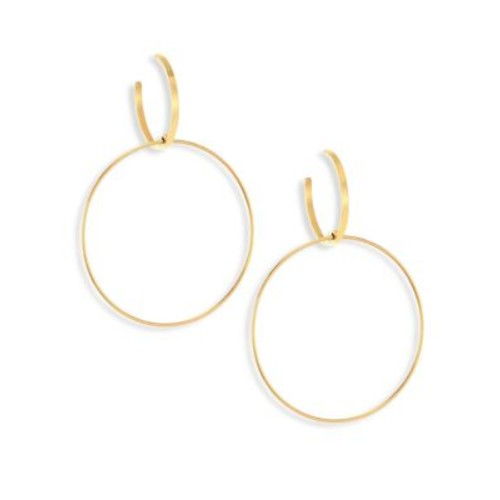 Bond 14K Yellow Gold Double-Drop Hoop Earrings