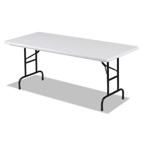Alera Blow Molded Resin Top Folding Gray Granite Tables