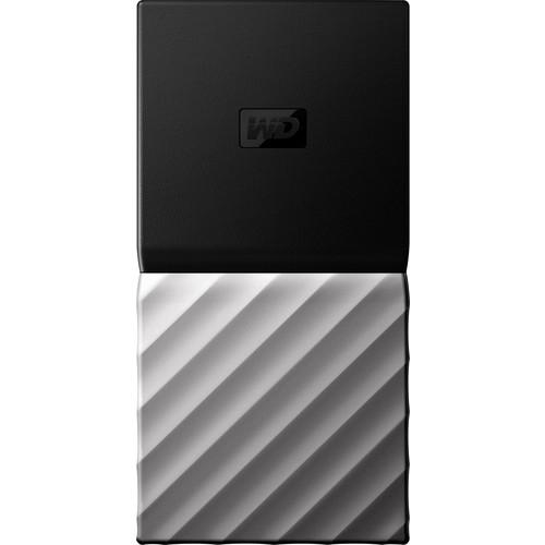 WD - My Passport SSD 512GB External USB 3.1 Gen 2 Portable Hard Drive - Black top / gunmetal (medium metallic gray) bottom