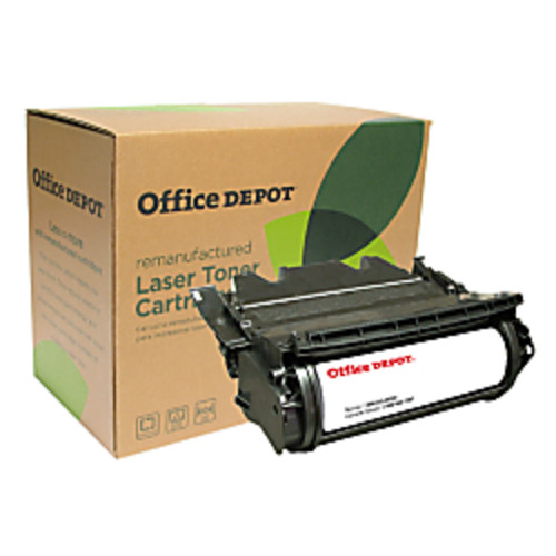 Office Depot Brand ODT644 (Lexmark 64435XA) Remanufactured Extra-High-Yield Black Toner Cartridge