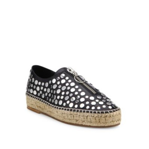 ALEXANDER WANG Studded Devon Leather Sneakers
