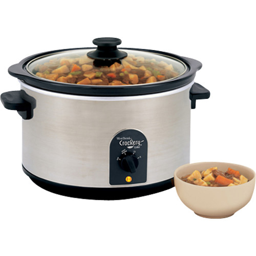 West Bend - Crockery Cooker - Brushed Stainless Steel