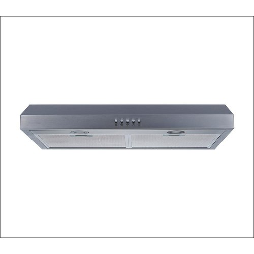 Winflo 30 in. Under Cabinet Range Hood in Stainless Steel with Aluminum Filters, LED Lights and Push Button Control