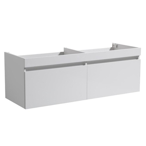 Fresca Largo 57 in. Double Bathroom Vanity Cabinet Only in White