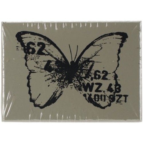 Finnabair Wood Mounted Stamps 1.5 Inch X 2 Inch-Butterfly 3